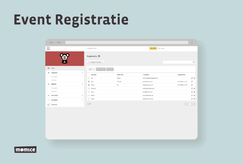 Momice - event registration - software - app - online events