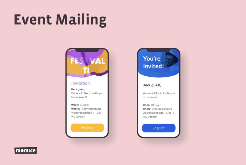 Momice - event registration - software - app - online events - event mailing