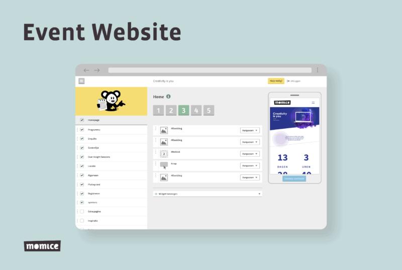 Momice - event registration - software - app - online events - event website