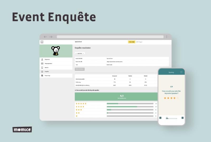 Momice - event registration - software - app - online events - event enquete