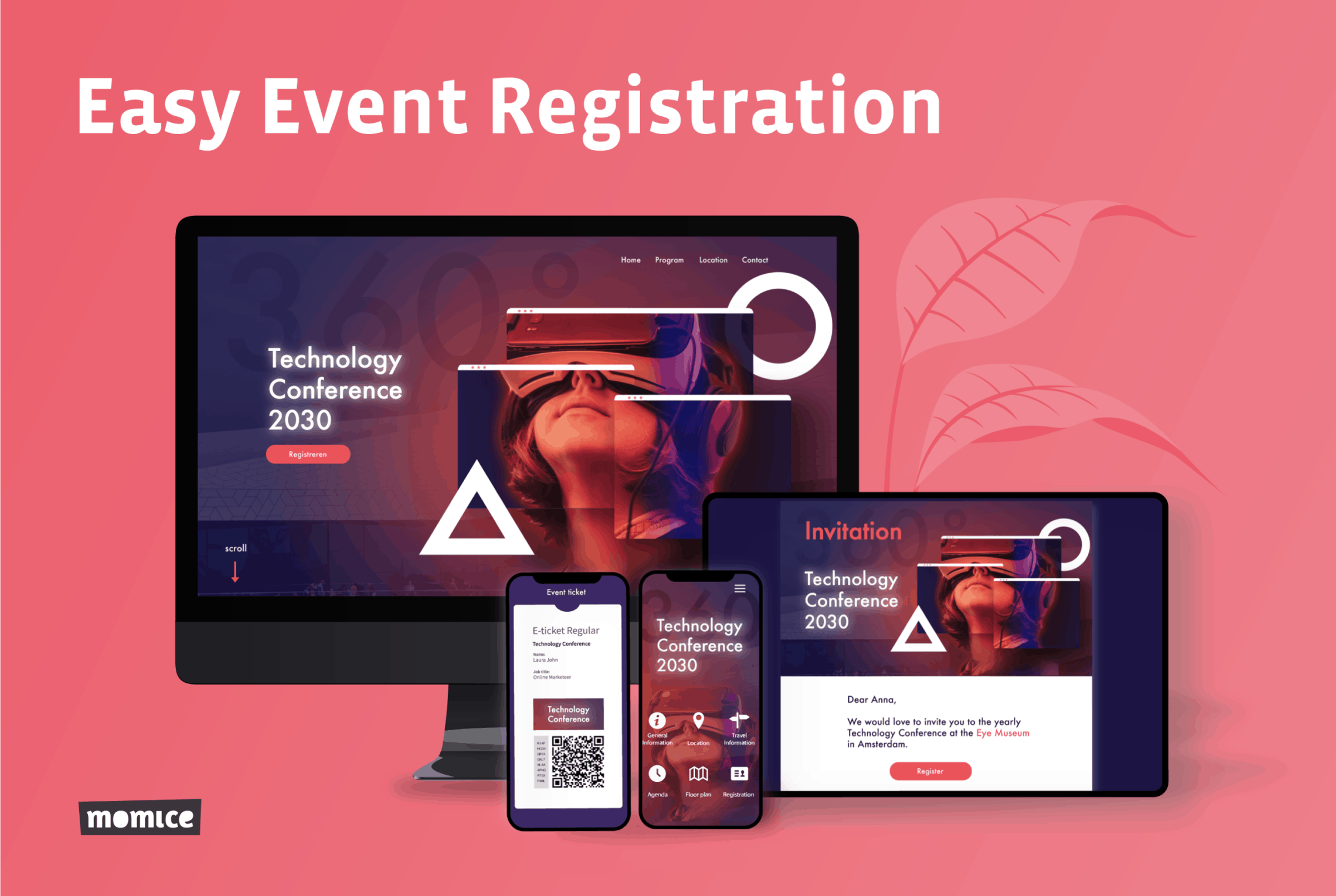 Momice - event registration - software - app - online events