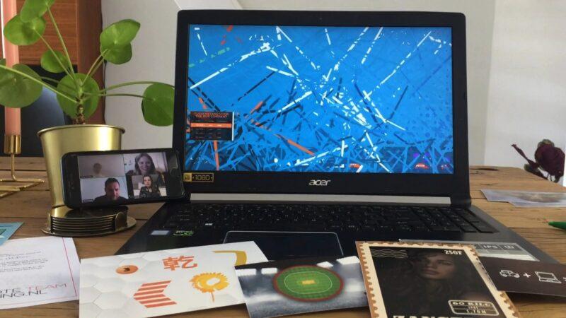 The Box Company online teambuilding op laptop