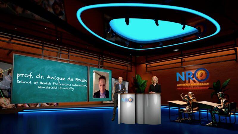 Online event nationaal regieorgaan - virtual studio van Live Legends