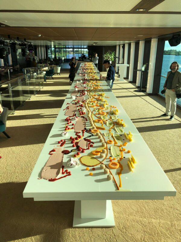 Blue Rhapsody varende eventlocatie dessetbuffet levend schilderij