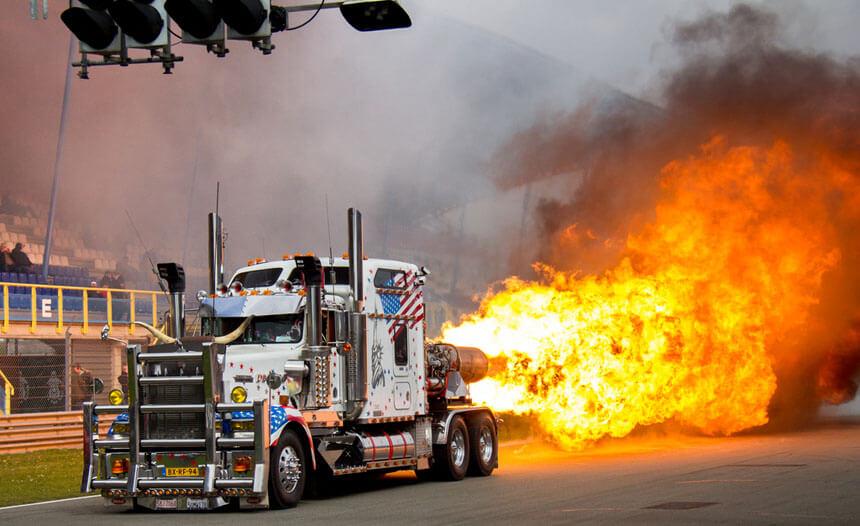 Jettruck - truck - vuur - act - show - 4