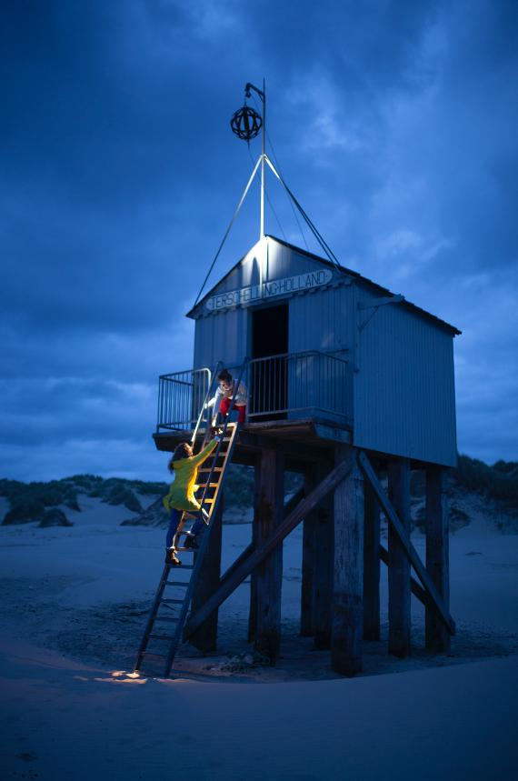 drenkelingenhuisje donker - meet in friesland - donker - nacht - night sky