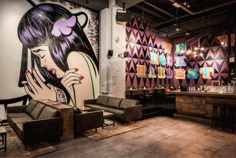 Lounge- de bajes - restaurant - street art - horeca
