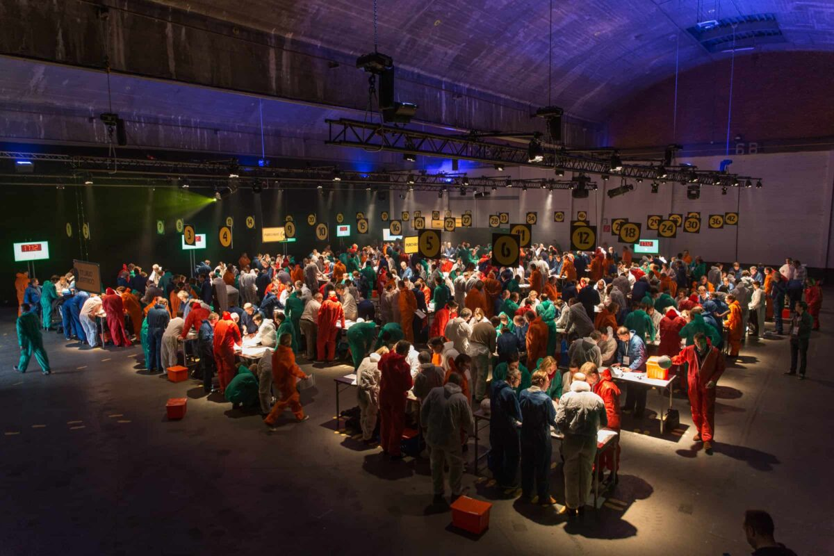 ballenfabriek - Teambuilding, corporate event, gespot, ballen, samenwerking