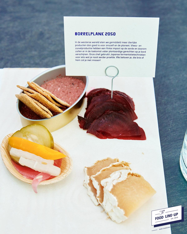 borrelplank 2050 - the food line up - food - vegan - vega - trend
