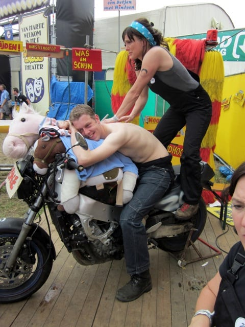 garagemassage - festival - medewerks - relax - event - 1