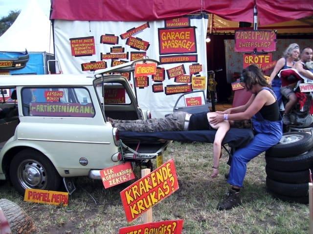 garagemassage - festival - medewerks - relax - event - 2