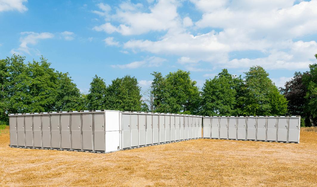 pop-up toilet - sanitair - festival - outdoor - voorzieningen