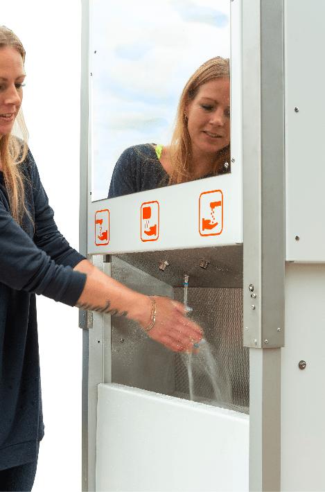pop-up toiletten - festival - handen wassen - schoon - outdoor