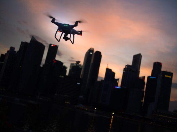 drone, show, act, opening, slot, drones, vliegen, lucht, eyecatcher
