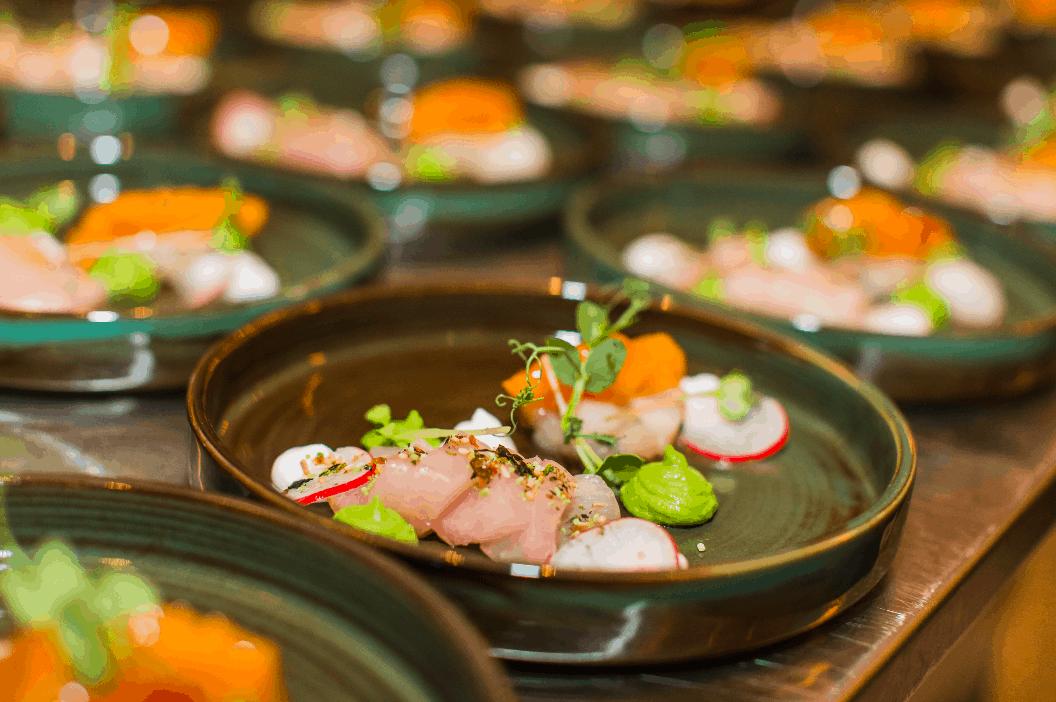 voorgerecht Kingfish - vineyard - catering - horeca - food - drinks