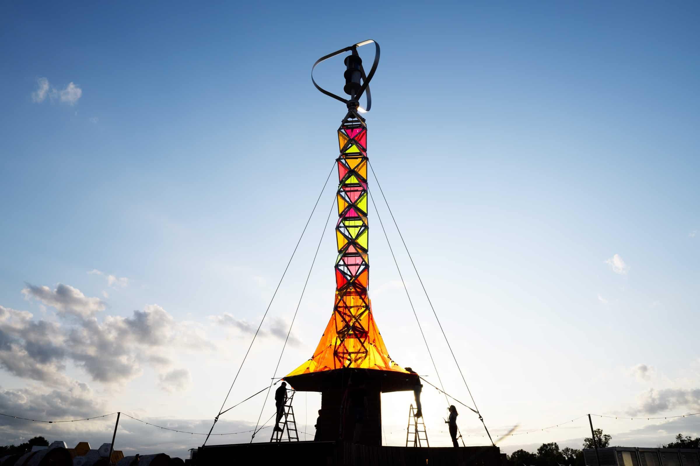 duurzame energietoren GEM-tower op Pukkelpop