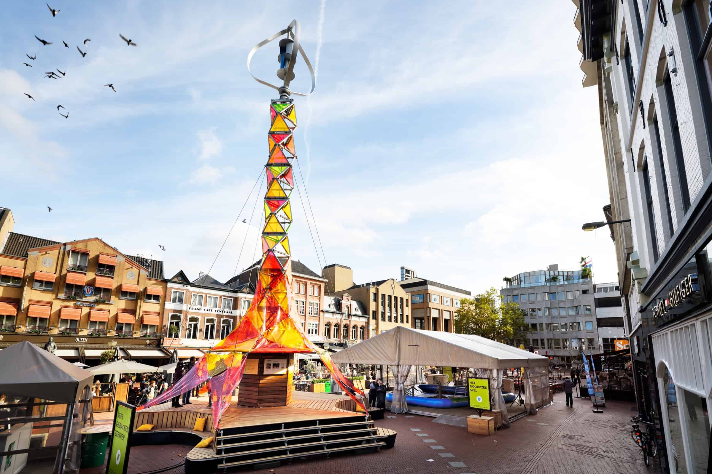 duurzame energietoren GEM-tower op Dutch Design Week