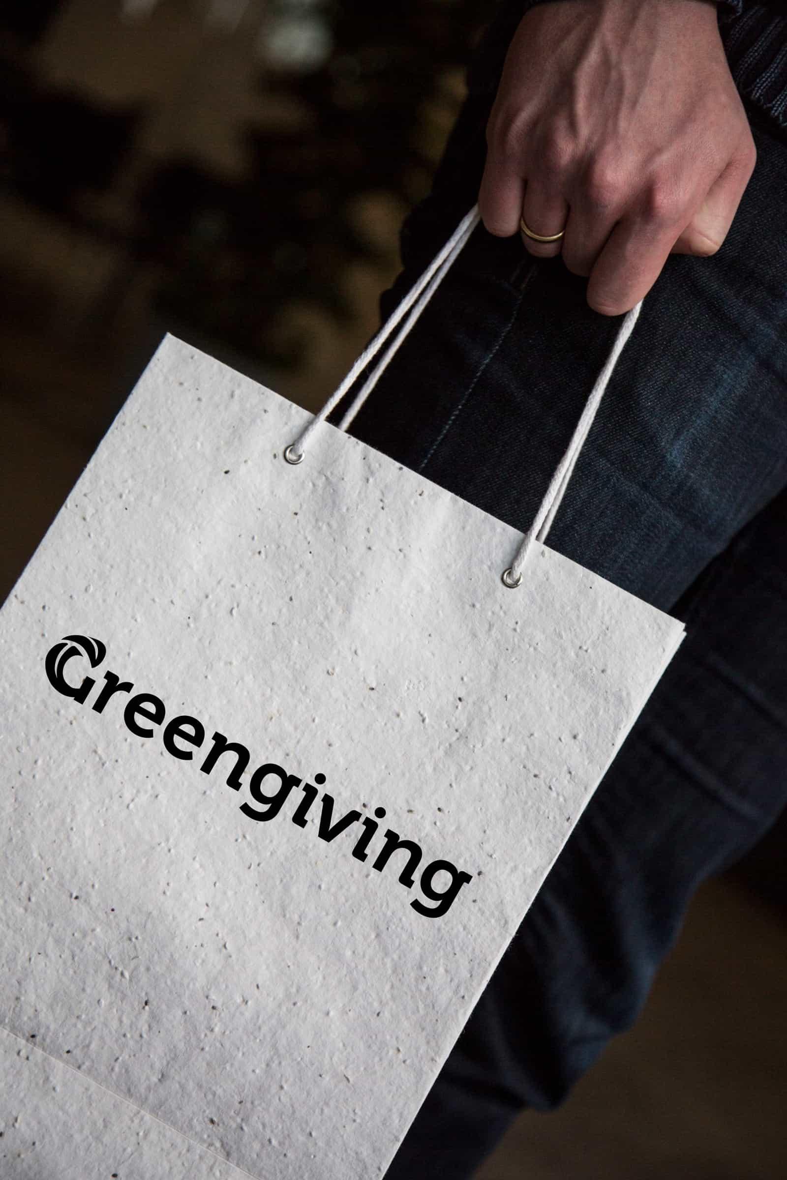 Greengiving-Groeipapier-tas - uitnodiging, communicatietraject, duurzaam, ecologisch, natuur
