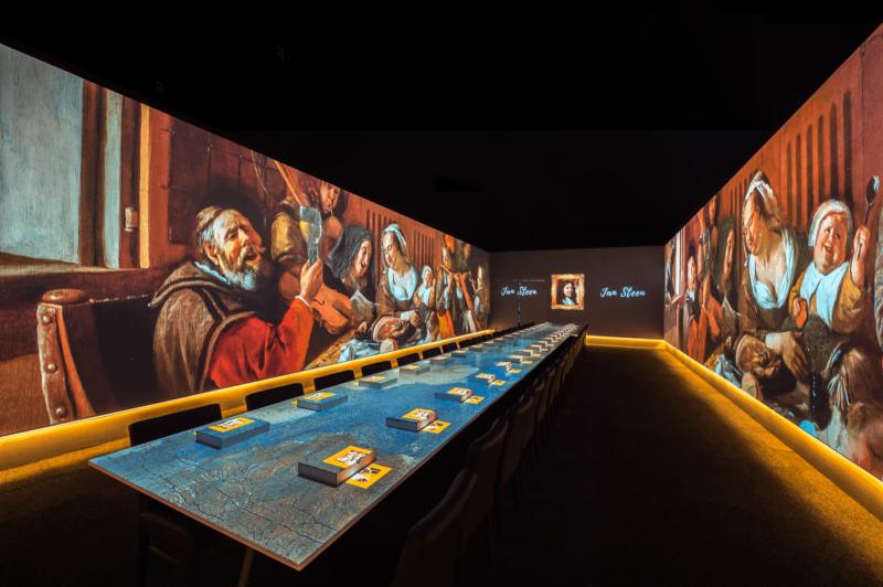 Schilderij - tafel -schermen -projectie