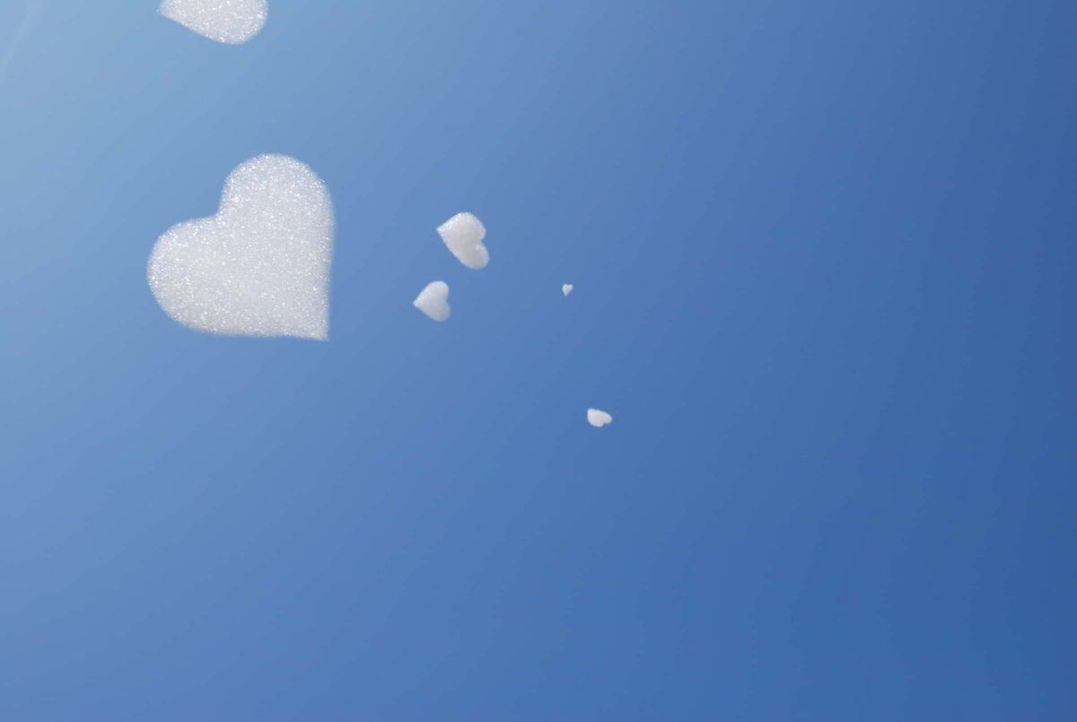 Flogos - hearts - harten - schuim - vliegend