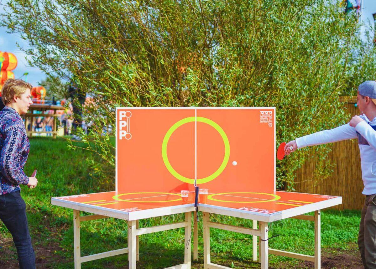 Uitdagend tafeltennis en strak design pinppongtafel van pop-up pingpong