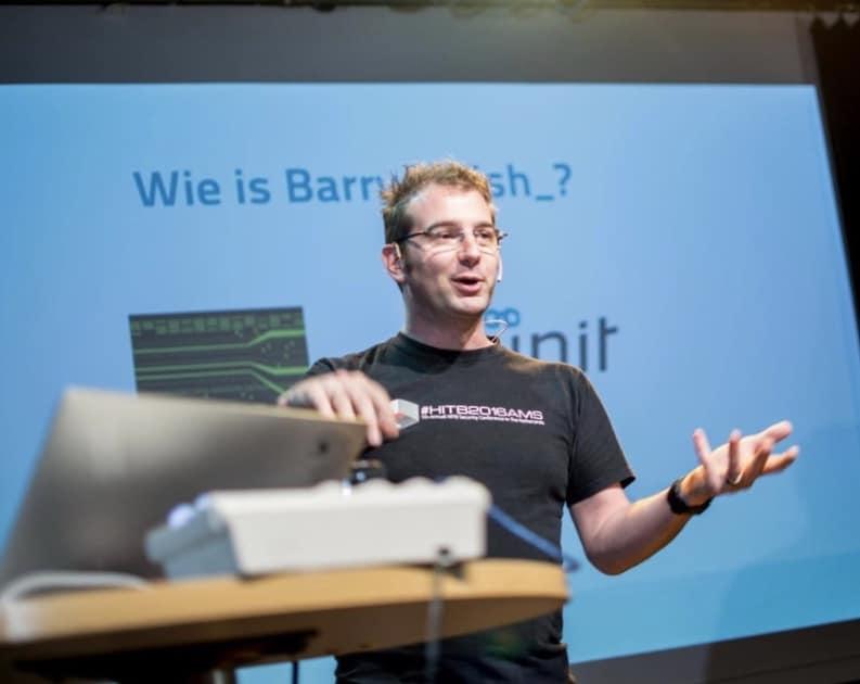 Barry van Kampen - hacker -beveiliging - security - presentatie - spreker