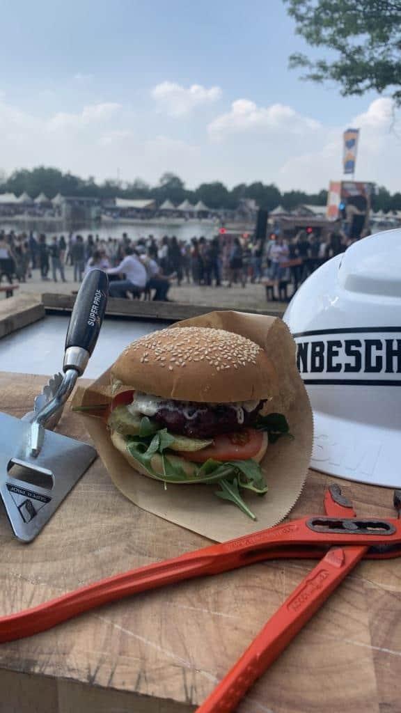 Hamburger - knijptang - onbeschaft