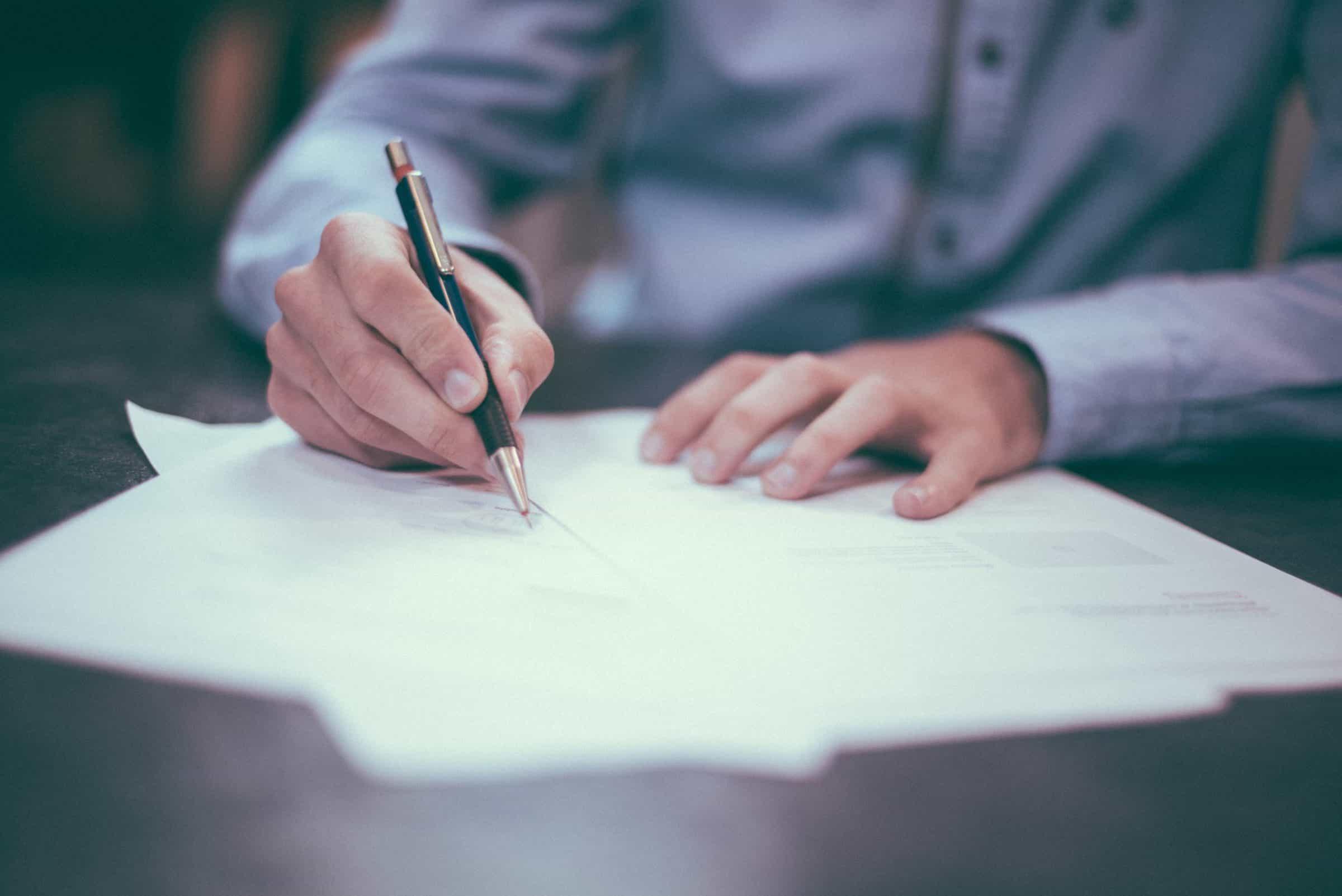 Tekenen - contract - legal