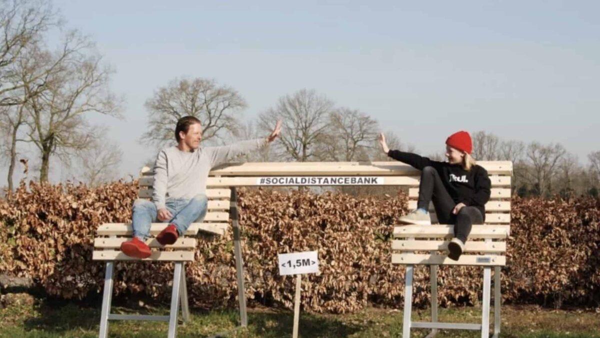 Social distancingbank - Amsterdam - 1,5 meter