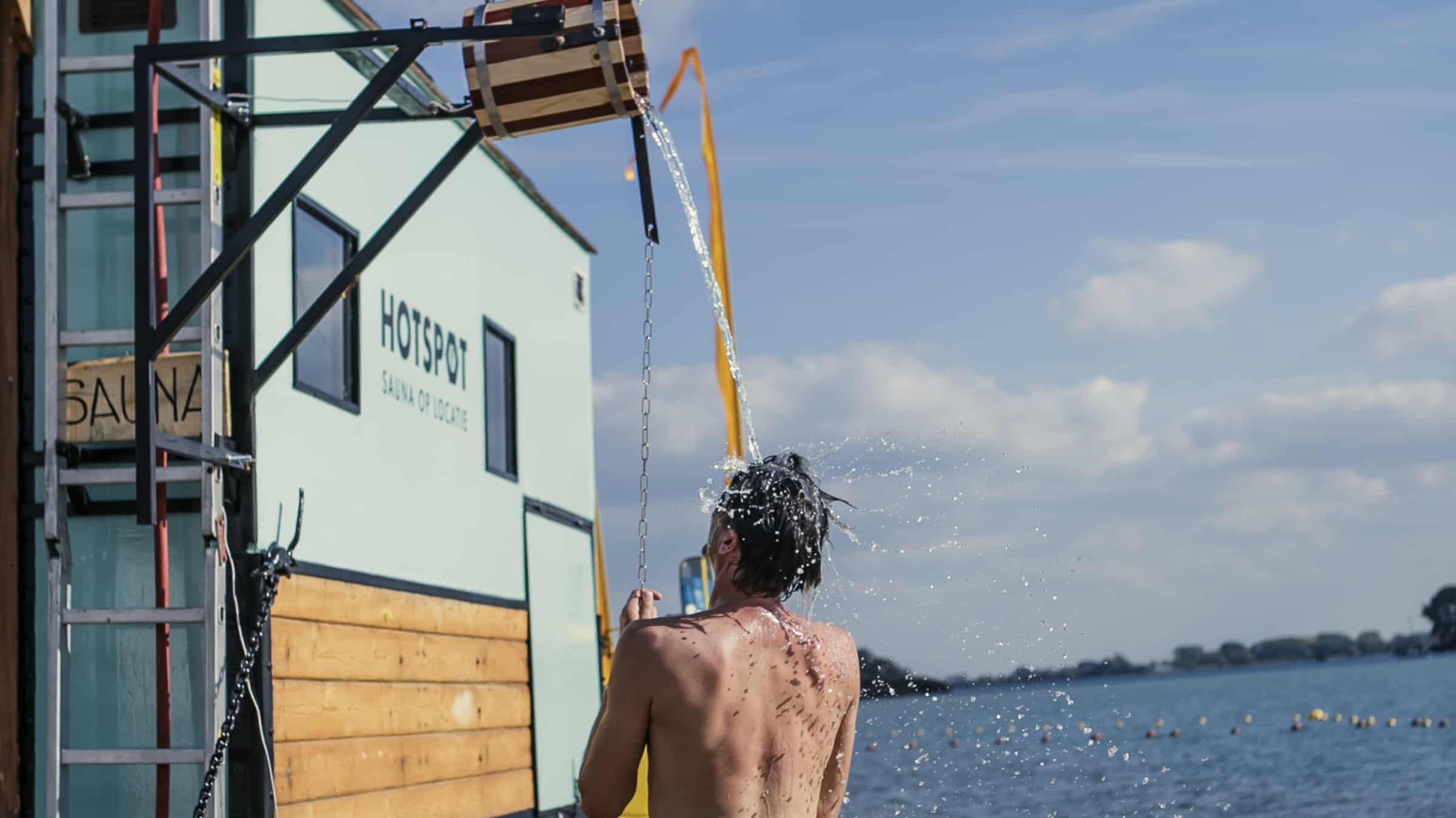 Hotspot - mobiele sauna - truck - douche