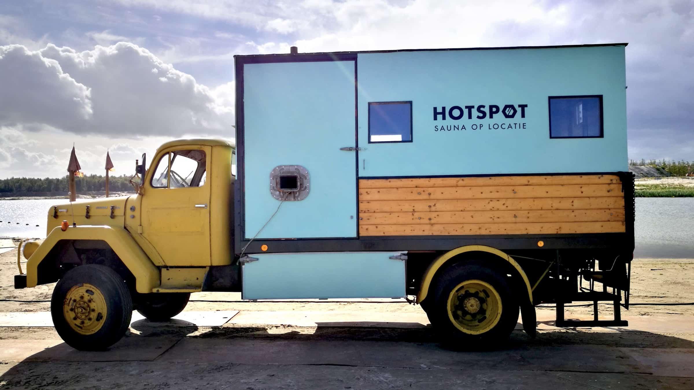 Hotspot - mobiele sauna - truck