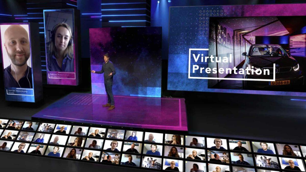 Univate - Faber Audiovisuals - Virtual Event Studio - online event - virtual event