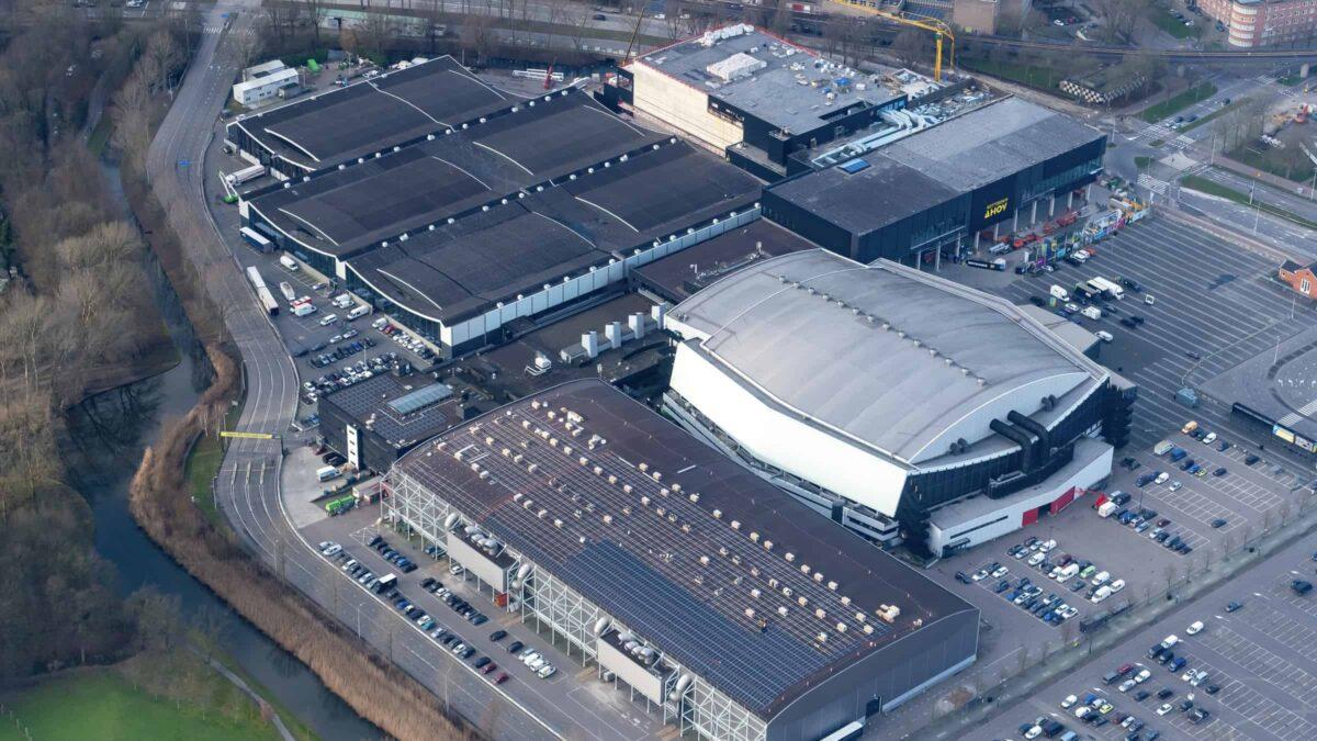 Rotterdam Ahoy - overview - luchtfoto - events - beurzen - congressen