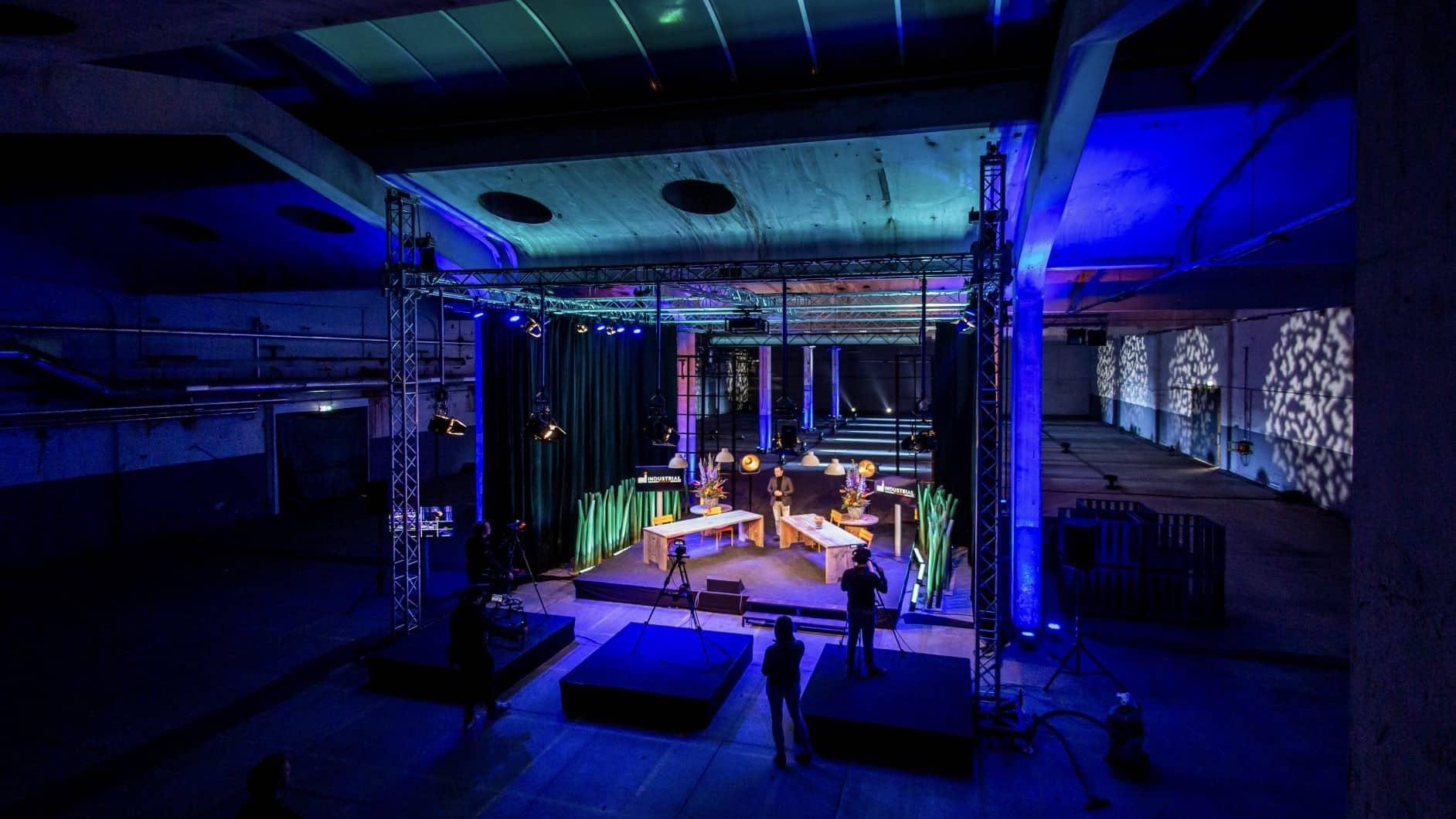 Industrial Studios - locatie - studio - online events - plug & play - Nightlife Productions - Mirage - Industriepark Kleefse Waard - Arnhem