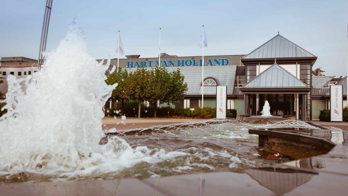 Event Inspiration - evenementenlocatie Hart van Holland entree met fontein