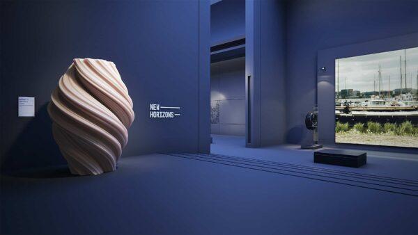 Event Inspiration - Vredestein 3D-design museum van Vredestein met kunstwerk op voorgrond