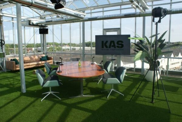 KAS Meeting & Eventlocatie webinar setting - Event Inspiration - online event - hybride event