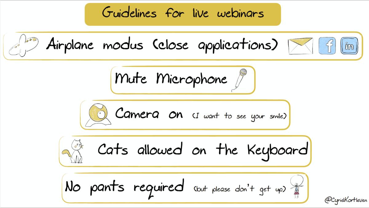 Guidelines for live webinars - tips voor webinars door Cyriel Kortleven