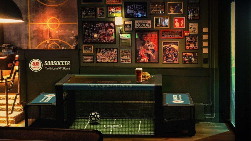 Subsoccer sportbar tafel met doeltjes
