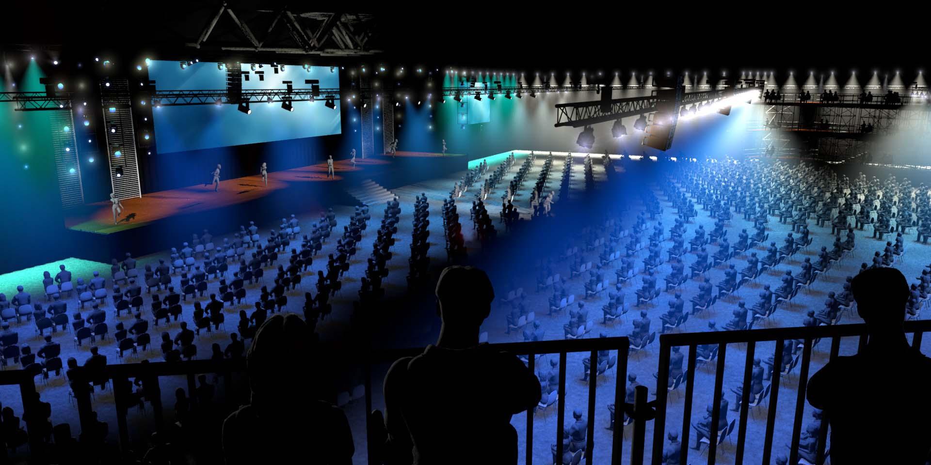 The stage is yours 2 - concept voor coronaproof events bij RAI Amsterdam