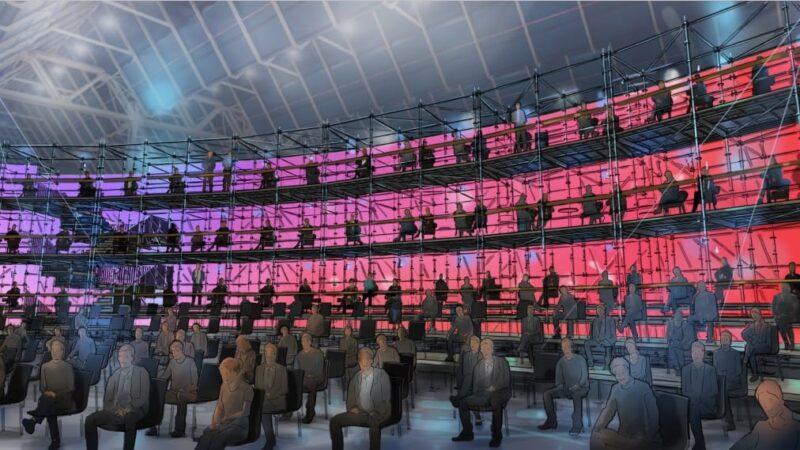 Vertical seating bij Jaarbeurs tijdens scala