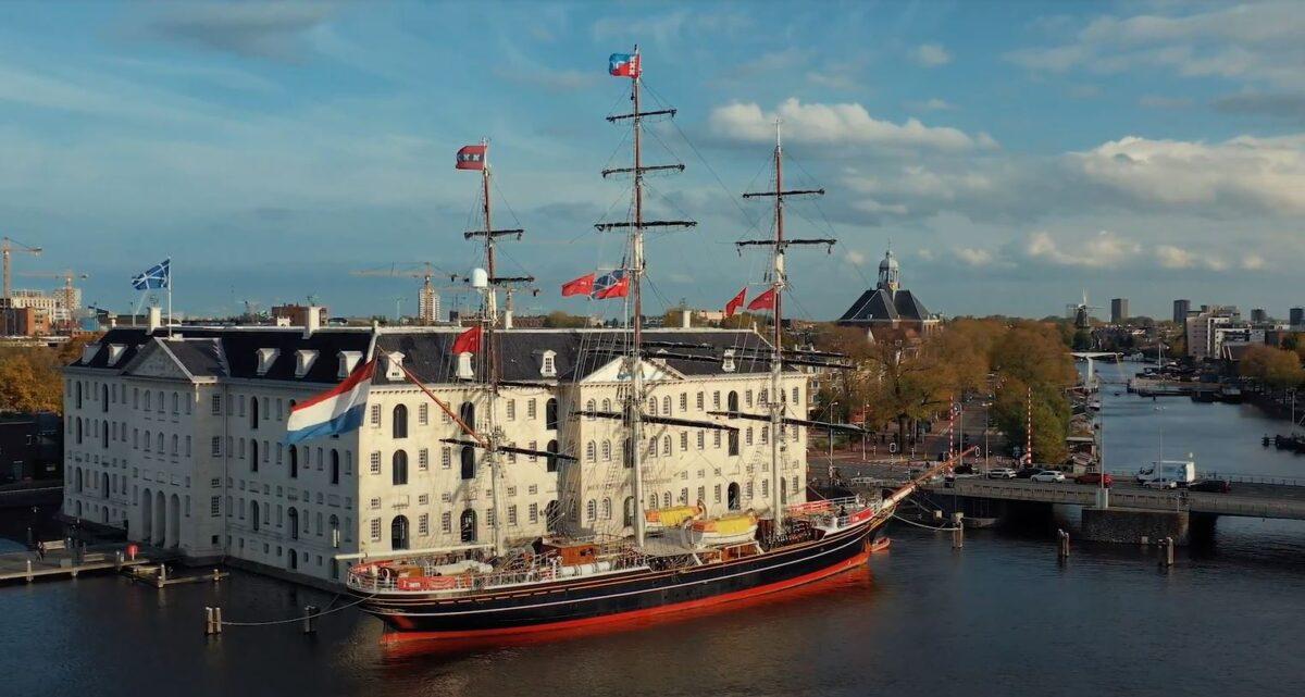 Schip bij Amsterdam Scheepvaartmuseum