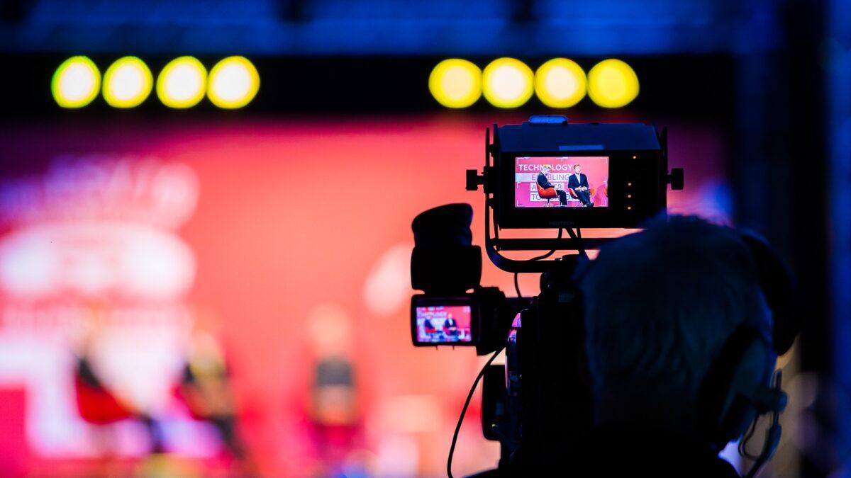 Camera die live event filmt