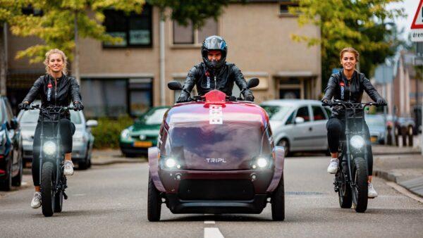 3 elektrische voertuigen naast elkaar - merkactivatie Chase (Photo Marco Scheurink)