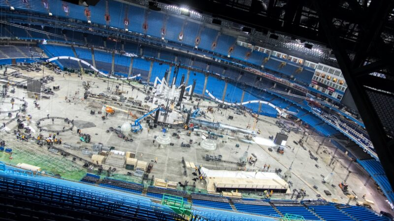 Backbone International - opbouw event in stadion