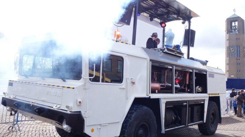 BrandMeester brandweerwagen met DJ booth