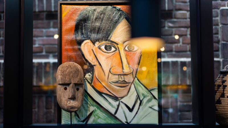 Schilderij en beeld bij Kontakt der Kontinenten