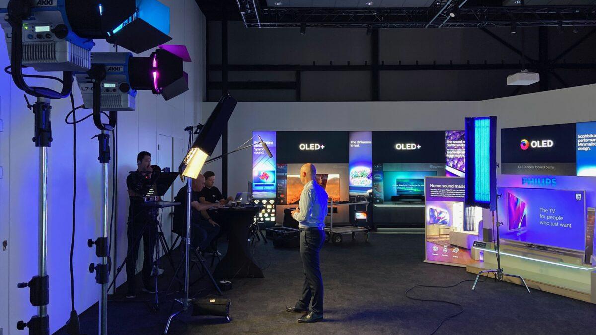 TP Vision behind the scenes virtual studio