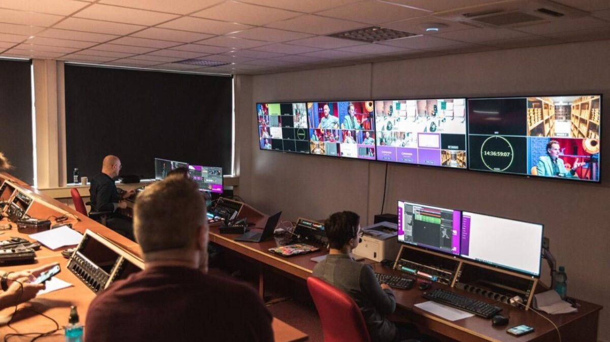 Backstage Q broadcasting studio