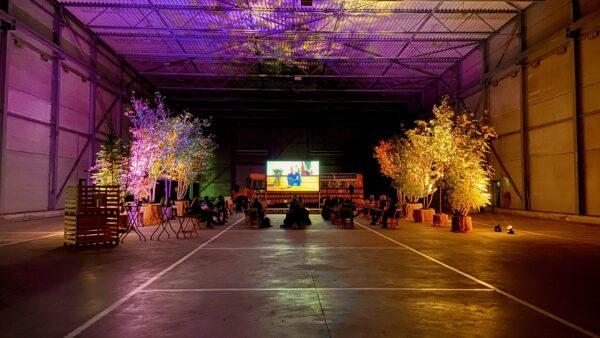 Coronaproof tuintje met scherm bij Ebben Inspyrium